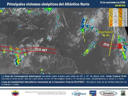 Se esperan lluvias en varias zonas del territorio venezolano