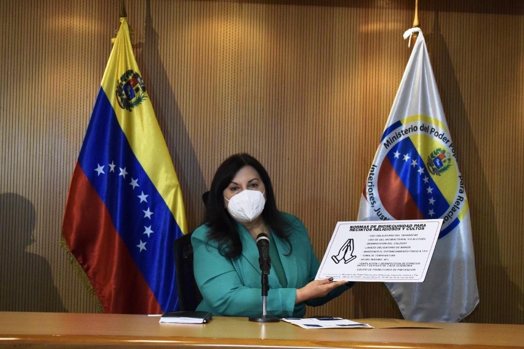 Ministra Meléndez: A partir del 1 de noviembre templos religiosos recibirán de nuevo a sus feligreses