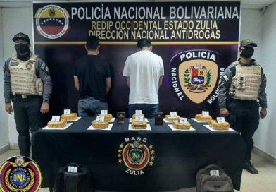 PNB detuvo a dos sujetos por tráfico de droga en el Zulia