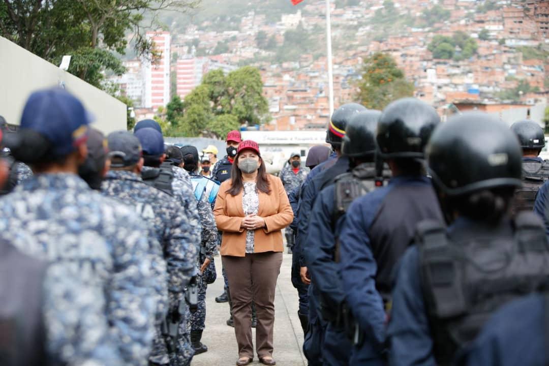 Vicepresidenta Sectorial Carmen Meléndez inspeccionó Centros de Coordinación Policial en Caracas