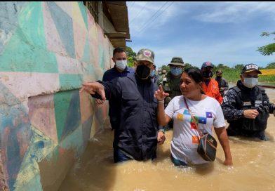 Vicepresidente Sectorial Remigio Ceballos inspeccionó zonas afectadas en Anzoátegui